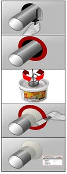 Aplicación de la pasta selladora