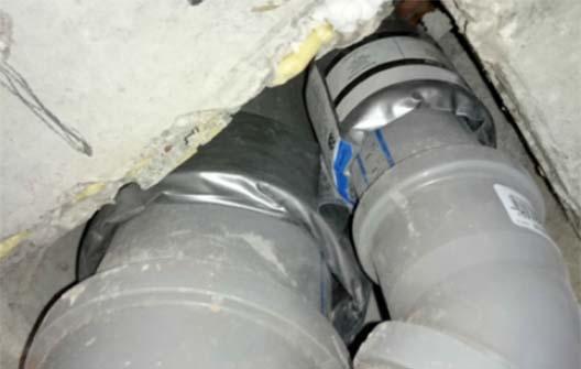 Bandas intumescentes de sellado de tuberías